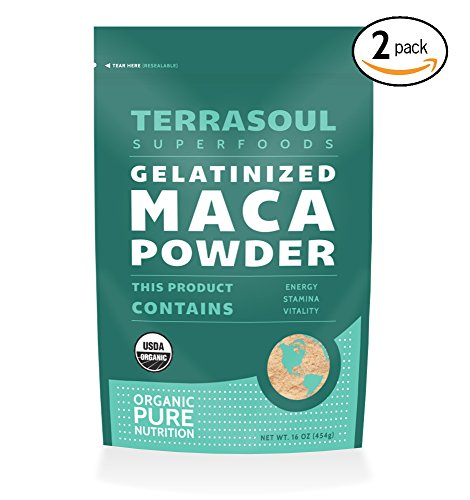Terrasoul Superfoods Organic Gelatinized Maca Powder, 2 Pounds