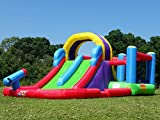 BeBoP Total Wipeout Bouncy Castle and Inflatable Water Slide Combo