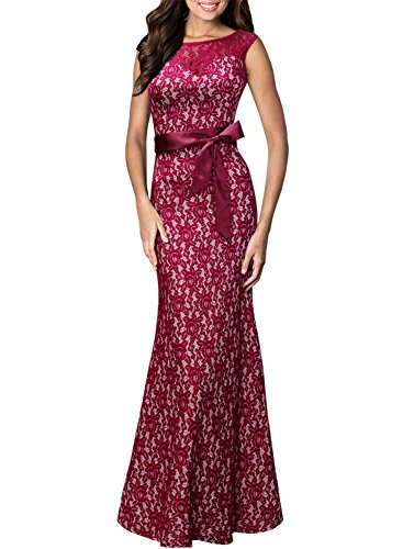 Women's Ball Gown Prom Party Formal Celeb Evening Maxi Dress - 5