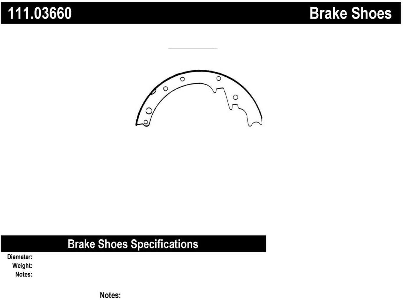 Centric 111.03660 Brake Shoes