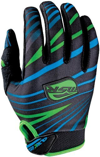 Msr Riding Gear - MSR Axxis Gloves , Distinct Name: Green/Cyan, Primary Color: Green, Size: 2XL, Gender: Mens/Unisex 334476