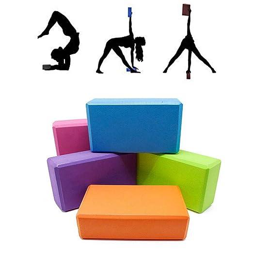 WXH 2PCS Bloques de Yoga, Juego de 2 Bloques de Espuma EVA ...