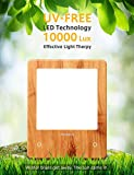 Miroco Light Therapy Lamp, LED Bright Therapy Light - UV Free 10000 Lux, Timer Function, Touch Control with 6 Adjustable Brightness Levels, Standing Bracket, for Home/Office Use