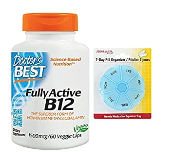 El médico mejor activo B12 1500 Mcg cápsulas vegetarianas, cuenta 60 con gratis 7 días