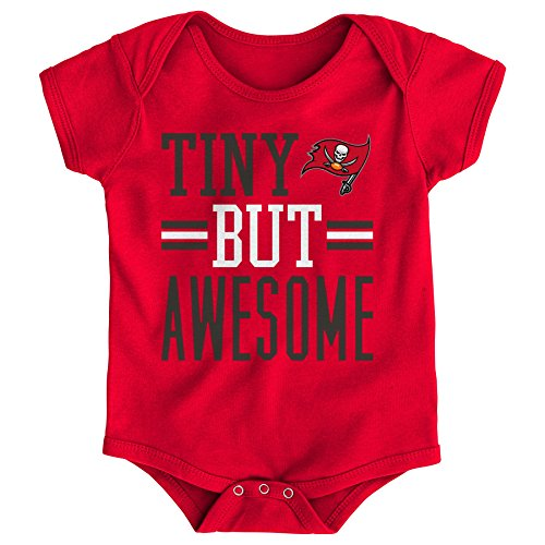 OuterStuff NFL Newborn Tiny But Awesome Short Sleeve Onesie-Red-9 Months, Tampa Bay (Tampa Bay Buccaneers Infant Onesie)