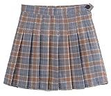 GenericWomen Generic Women¡¯s College Plaid Checkered High Waisted Slim Fit Skirt Dresses 3 L
