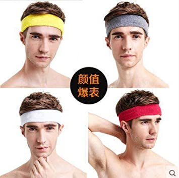 Amazon.com   Fitness Yoga hoop fans supplies influx of men and women face  forehead protector headband caps sports stretch tennis sweat band for women  girl ... 2455ef5939f