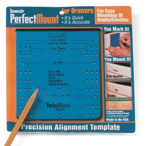 Laurey 98101 Perfect Mount Precision Alignment Template for Drawer Hardware ()