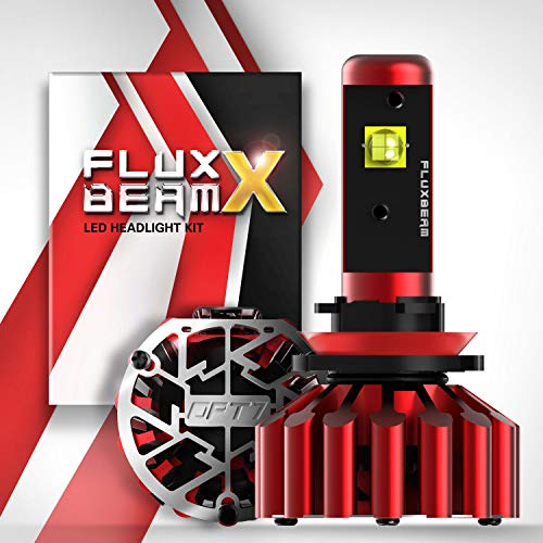 OPT7 Fluxbeam X H11 H8 H9 LED Headlight Bulbs w/Arc-Beam Lens - 8,400LM 6000K Daytime White - All Bulb Sizes - 60w - 2 Year Warranty