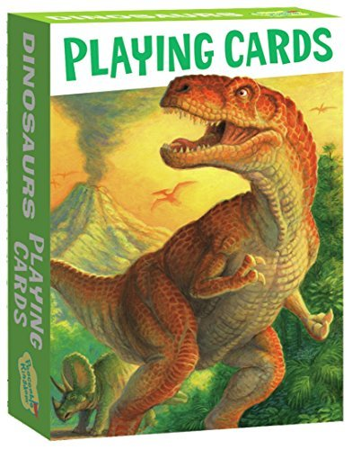 Peaceable Kingdom Dinosaurs Playing Card Deck of 52 Cards Plus 2 Jokers with Box