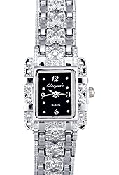 HACBIWA Popular Fashion Women Lady Gril Stainless Steal Analog Wrist Watches
