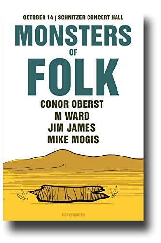 Monsters of Folk Poster - 11 x 17 Concert Promo Conor Oberst M Ward Jime James -sy