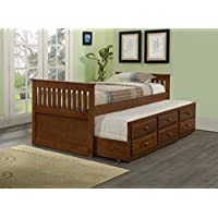 DONCO Kids 103-TE Mission Captains Bed, Twin, Light Espresso