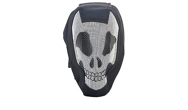 Airsoft esgrima capucha negro elegante máscara, denominadas medidas Máscara de calavera: Amazon.es: Deportes y aire libre