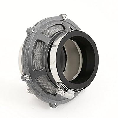 "AJP Distributors Universal Gunmetal Cia Cold Air Intake Bypass Valve Racing 2.5"" Replacement Jdm Performance Upgrade Racing: Automotive"