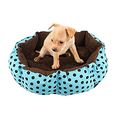 JUNGEN Cama para Mascotas Suave y Acogedor Cama para Perros Cómodo Colchoneta para Perro Gato Mascota, 36 * 30cm (Azul)