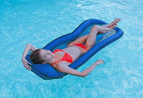 51IO8m9c4RS Intex Pool Lounge Luftmatratze aufblasbar Netzboden für Schwimmbad grün oder blau