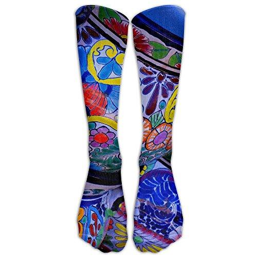 iful Bowl Colorful Pottery Prints Stockings Long Tube Socks Great Quality Classics Knee High Socks Sports Socks For Women Teens Girls ()