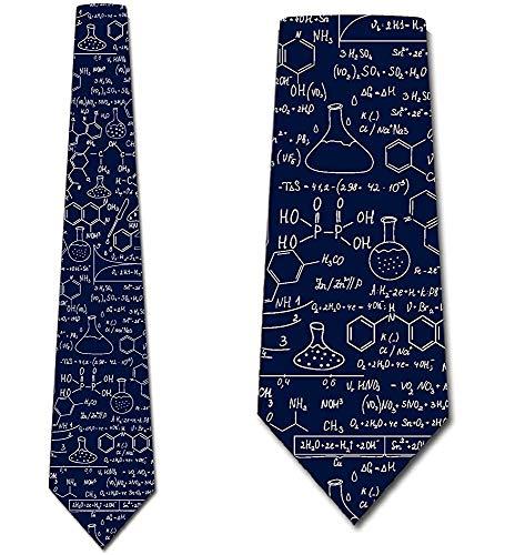 Lazos de ciencia para hombre ecuaciones químicas corbata azul ...