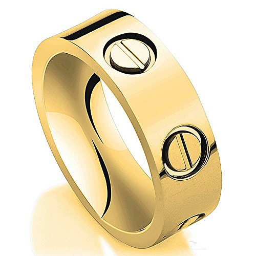 JoGray Love Ring-Gold Lifetime Just Love You 6MM in Width Sizes 8 by JoGray (Image #1)