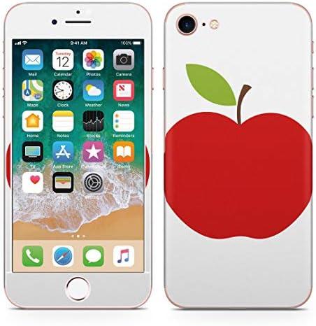 igsticker iPhone SE 2020 iPhone8 iPhone7 専用 スキンシール 全面スキンシール フル 背面 側面 正面 液晶 ステッカー 保護シール 009346 果物 りんご 赤