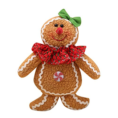 Home Decor,Pandaie Christmas Decorations Clearance Christmas Tree Hanging Gingerbread Man Ornaments Doll Xmas Home Hang - Decorations Christmas Gingerbread