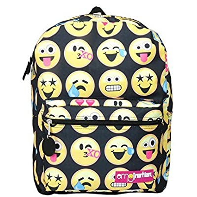 Emojination Heart eyes Cry Sweat Smile face Large backpack