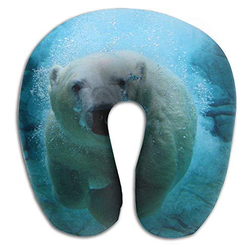 (KopgLnm Cool Polar Bear Neck Pillow Comfortable Soft Microfiber Neck-Supportive Travel Pillow Home, Neck Pain)