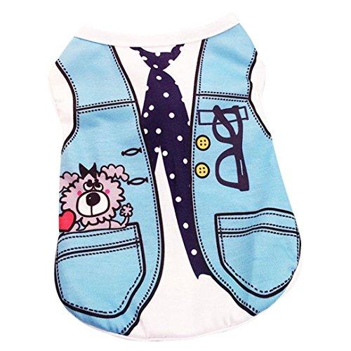 Howstar Pet Shirts Super Cute Puppy Vest Tank Tops Dogs Summer Shirt Soft Sweatshirt (S, Sky -