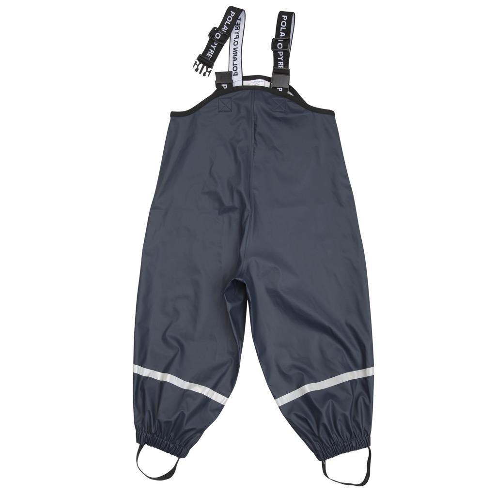 Polarn O. Pyret Waterproof Suspender RAIN Pants (6-8YRS) - Dark Sapphire/6-8 Years by Polarn O. Pyret