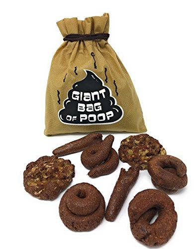 Island Dogs Giant Bag Of Fake Poop Novelty Gag Toys Dog Crap Funny Turd Prank 8pc (Fake Jumbo)