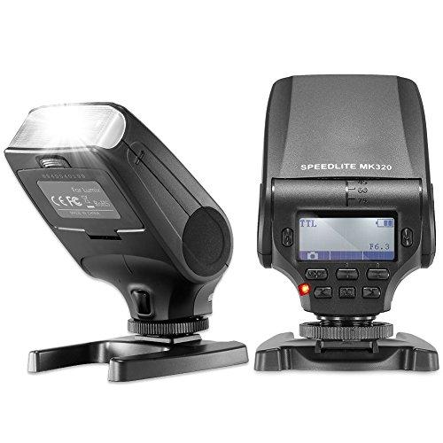 (Neewer NW320 TTL LCD Display LED-Assistive Preview Focus Flash Speedlite for Panasonic Lumix DMC GF7 GM5 GH4 GM1 GX7 G6 GF6 GH3 G5 GF5 GX1 GF3 G3, Olympus OM-D E-M5 II E-M10 E-M1 PEN E-PL7 E-P5)