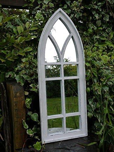 Espejo artístico decorativo tipo ventana gótica con arco de madera ...
