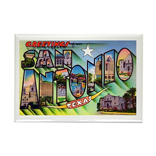 (CafePress San Antonio Texas Greetings Rectangle Magnet, 2