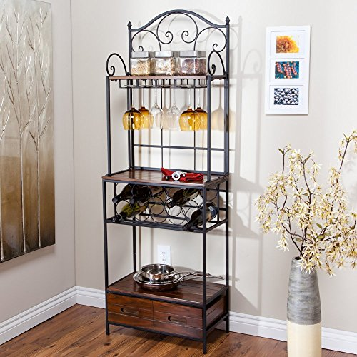 Belham Living Anders Driftwood Bakers Rack