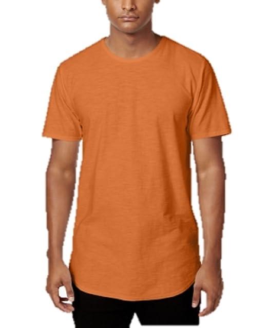 870c5b45427de1 Amazon.com  Jaywalker Men s Extended-Hem T-Shirt in Burnt Orange (XX ...