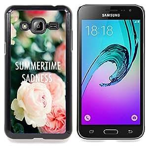 Eason Shop / Premium SLIM PC / Aliminium Casa Carcasa Funda Case Bandera Cover - Tristeza Rosas Profundo - For Samsung Galaxy J3 GSM-J300
