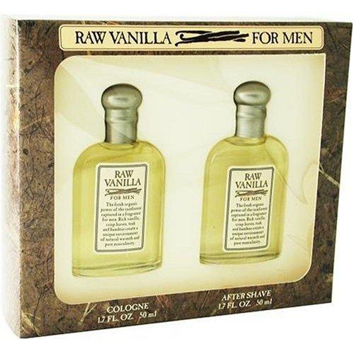 Raw Vanilla By Coty For Men. Gift Set ( Cologne Splash 1.7 Oz + Aftershave 1.7 Oz).