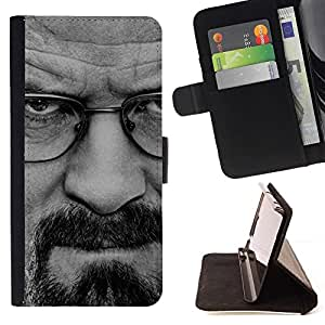 For Samsung Galaxy Core Prime BREAKING METH - WALTER W Beautiful Print Wallet Leather Case Cover With Credit Card Slots And Stand Function