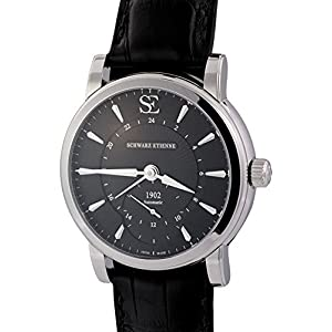 "Schwarz Etienne ""Manufacture Roma"" ASE GMT Micro-rotor. 4-Day Power. Black Dial"
