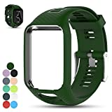 Feskio Accessory Replacement Soft Silicone Gel Watch Band Wristband Strap Sport Bracelet for Tomtom Runner 2 / Runner 3 / Spark 3 / Adventurer/Golfer 2 Sports GPS Running Smartwatch (One Size)