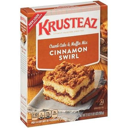 krusteaz Cinnamon Swirl recogemigas Pastel & Muffin Mix ...