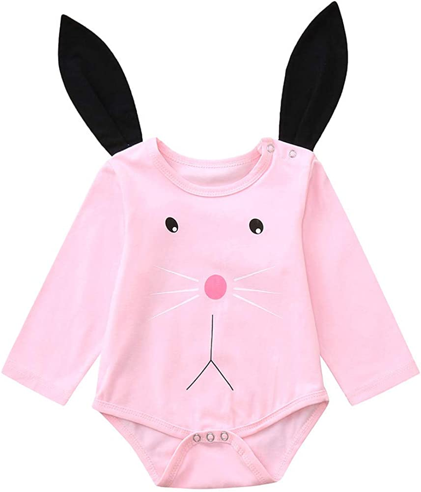 Memela Baby Clothes,Toddler Infant Baby Girls Boys Cartoon Rabbit Ear Hooded Romper Jumpsuit Outfits