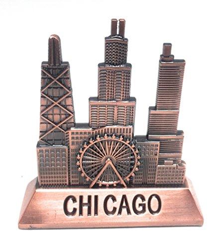 City of Chicago Skyline Souvenir Table or Desk Decoration(Metal - 3.5