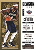new orleans pelicans tickets - 2017-18 Panini Contenders Season Ticket #70 DeMarcus Cousins New Orleans Pelicans Basketball Card