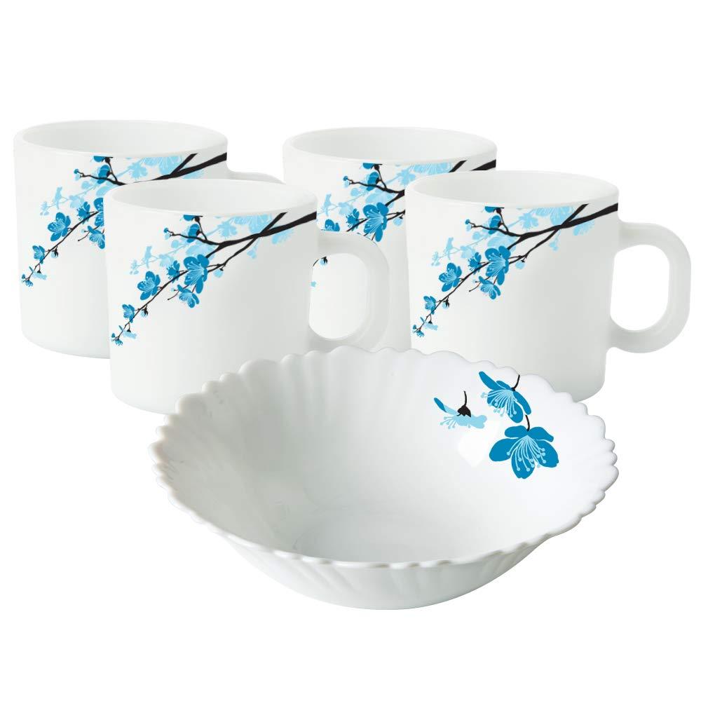 Borosil Mimosa Opalware Snacks Set, 5-Pieces