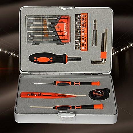 alicenter (TM) Mini multiusos mecánica Kit de herramienta para el hogar en caja de herramientas caso 28 piezas H: Amazon.es: Electrónica
