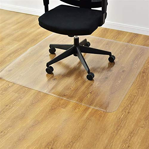 Teeker Home Office Chair Mat,Hard Floor Protection,PVC Dull Polish Protection Floor Mat Anti-Slip Chairmat Thick and Sturdy 47.24 x 35.43 inch Rectangular