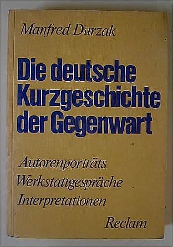 Die Deutsche Kurzgeschichte Der Gegenwart Autorenporträts