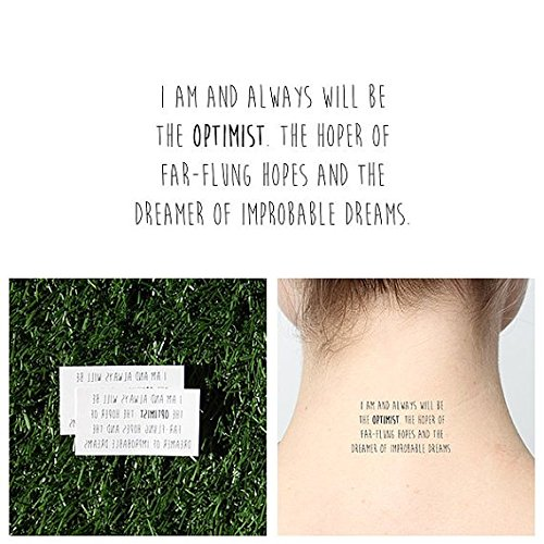 Tattify Inspirational Dr Who Quote Temporary Tattoo - Half Full (Set of 2) - Other Styles Available - Fashionable Temporary Tattoos ()